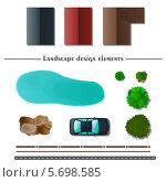 Купить «Ландшафтный дизайн (предметы на белом фоне)», иллюстрация № 5698585 (c) Анастасия Новых / Фотобанк Лори