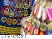 Празднование Дня Победы в Одессе, Украина. Ветераны с медалями. 9 мая, 2012 год. Стоковое фото, фотограф Anhelina Tarasenko / Фотобанк Лори