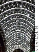 Купить «Ночная подсветка стеклянного арочного моста в центре Тбилиси. Грузия», фото № 5701169, снято 4 июля 2013 г. (c) Евгений Ткачёв / Фотобанк Лори