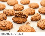 Овсяное печенье с шоколадом и орехами. Стоковое фото, фотограф Наталья Двухимённая / Фотобанк Лори