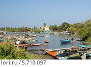 Рыбный причал. Негомбо. Шри-Ланка (2014 год). Редакционное фото, фотограф Сергей Воронин / Фотобанк Лори