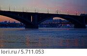 Купить «Мост на закате», видеоролик № 5711053, снято 7 февраля 2014 г. (c) Ирина Егорова / Фотобанк Лори