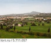 Кипрский пейзаж с видом на горы (2014 год). Стоковое фото, фотограф Victoria Demidova / Фотобанк Лори