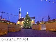 Купить «Рождественская ярмарка на Ратушной площади в центре Таллина, Эстония», эксклюзивное фото № 5711461, снято 6 января 2014 г. (c) Литвяк Игорь / Фотобанк Лори