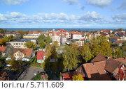 Купить «Осень. Панорама Зеленоградска», фото № 5711609, снято 19 октября 2013 г. (c) Ирина Борсученко / Фотобанк Лори