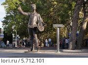 """Купить «Скульптура """"Коробейник"""", город Геленджик», эксклюзивное фото № 5712101, снято 21 сентября 2013 г. (c) Dmitry29 / Фотобанк Лори"""