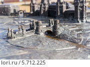 Купить «Металлический макет архитектурного ансамбля парка Царицыно. Город Москва», эксклюзивное фото № 5712225, снято 13 марта 2014 г. (c) Сергей Лаврентьев / Фотобанк Лори