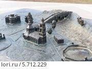 Купить «Металлический макет архитектурного ансамбля парка Царицыно. Город Москва», эксклюзивное фото № 5712229, снято 13 марта 2014 г. (c) Сергей Лаврентьев / Фотобанк Лори