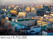 Купить «Москва на закате», фото № 5712305, снято 1 марта 2014 г. (c) Liseykina / Фотобанк Лори