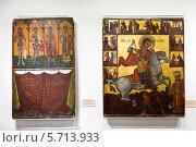 Средневековые византийские иконы из музея церкви Святого Лазаря. Ларнака, Кипр. (2014 год). Редакционное фото, фотограф Victoria Demidova / Фотобанк Лори