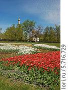 Купить «Парк около церкви Ильи Пророка на Большой Черкизовской улице в Москве», эксклюзивное фото № 5716729, снято 2 мая 2012 г. (c) lana1501 / Фотобанк Лори