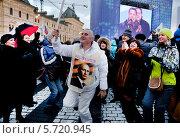 Купить «Митинг на Красной площади, посвященный воссоединению Крыма и Севастополя ск Россией», фото № 5720945, снято 18 марта 2014 г. (c) Наталья Волкова / Фотобанк Лори