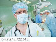 Купить «Врач анестезиолог в операционной», фото № 5722613, снято 10 февраля 2014 г. (c) Дмитрий Калиновский / Фотобанк Лори