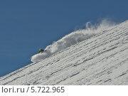 Сноубордист в снегу. Стоковое фото, фотограф Сергей Юшинский / Фотобанк Лори