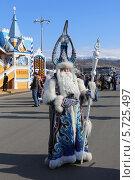 Купить «Бурятский Дед Мороз в Олимпийском парке, Сочи», эксклюзивное фото № 5725497, снято 10 февраля 2014 г. (c) Алексей Гусев / Фотобанк Лори