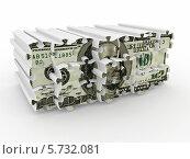 Купить «Доллар из кусочков пазла», иллюстрация № 5732081 (c) Maksym Yemelyanov / Фотобанк Лори