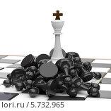 Купить «Белый король и поверженный враг», иллюстрация № 5732965 (c) Александр Степанов / Фотобанк Лори