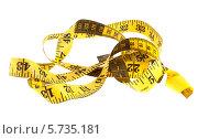 Купить «Измерительная лента. Портняжный метр.», фото № 5735181, снято 8 марта 2014 г. (c) Литвяк Игорь / Фотобанк Лори