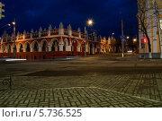 Гостиные ряды вечером, Калуга. Стоковое фото, фотограф Ярослав Грицан / Фотобанк Лори