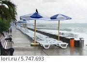 Купить «Пустая набережная в шторм», фото № 5747693, снято 27 марта 2014 г. (c) Андрей Радченко / Фотобанк Лори