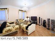 Купить «Интерьер роскошной гостиной в классическом стиле», фото № 5749589, снято 16 января 2013 г. (c) Losevsky Pavel / Фотобанк Лори
