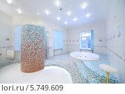 Купить «Интерьер роскошной ванной комнаты  с джакузи», фото № 5749609, снято 16 января 2013 г. (c) Losevsky Pavel / Фотобанк Лори
