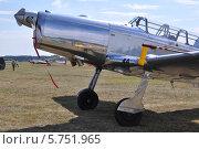 Самолёт-моноплан  на лётном поле (2011 год). Редакционное фото, фотограф Jakob Sergejew / Фотобанк Лори