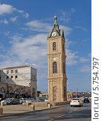 Купить «Часовая трёхъярусная башня Хамида. Яффо, Израиль», фото № 5754797, снято 5 октября 2012 г. (c) Ирина Борсученко / Фотобанк Лори