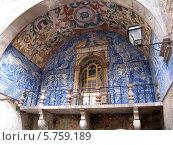 Португалия, Обидош, изразцы (2007 год). Стоковое фото, фотограф Светлана Островская / Фотобанк Лори