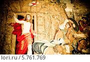 Явление Христа народу, старинный гобелен в Ватиканском музее. Редакционное фото, фотограф ElenArt / Фотобанк Лори
