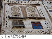 Купить «Йемен, Сана, старый город, фрагмент жилого дома», фото № 5766497, снято 18 марта 2014 г. (c) Овчинникова Ирина / Фотобанк Лори