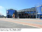 Купить «Чижовка-арена, Минск, Беларусь», фото № 5769397, снято 29 марта 2014 г. (c) Марина Шатерова / Фотобанк Лори