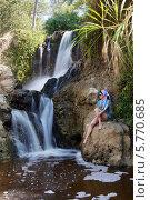 Купить «Водопад Красный ручей (Fairy stream)», фото № 5770685, снято 22 января 2014 г. (c) макаров виктор / Фотобанк Лори