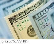 Купить «Старая стодолларовая купюра среди новых», фото № 5778181, снято 28 декабря 2013 г. (c) Андрей Кузьмин / Фотобанк Лори