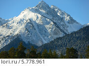 Купить «Зимний горный пейзаж», фото № 5778961, снято 19 марта 2014 г. (c) александр жарников / Фотобанк Лори