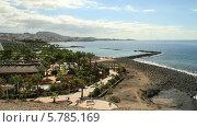 Купить «Лас Америкас (Коста Адехе). Вид пляж Фанабе. Тенерифе.», видеоролик № 5785169, снято 3 декабря 2013 г. (c) Roman Likhov / Фотобанк Лори