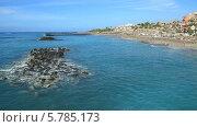 Купить «Пляж Дель Дуке (Playa Del Duque) в Лас Америкасе на острове Тенерифе, Канарские острова», видеоролик № 5785173, снято 29 ноября 2013 г. (c) Roman Likhov / Фотобанк Лори