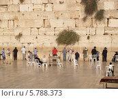 Купить «Израиль. Мужчины у Стены Плача в Иерусалиме», фото № 5788373, снято 9 октября 2012 г. (c) Ирина Борсученко / Фотобанк Лори