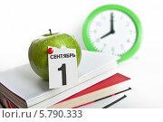 Купить «Школьный натюрморт. 1 сентября», фото № 5790333, снято 9 апреля 2014 г. (c) Элина Гаревская / Фотобанк Лори