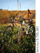 Два велосипеда в летней траве (2013 год). Редакционное фото, фотограф OlgaM. / Фотобанк Лори