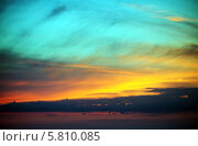 Купить «Разноцветный закат», фото № 5810085, снято 15 июня 2013 г. (c) Анна Полторацкая / Фотобанк Лори