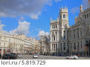 Площадь Сибелес (Plaza de la Cibeles). Мадрид, Испания (2014 год). Стоковое фото, фотограф Вадим Хомяков / Фотобанк Лори