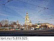 Купить «Новоспасский мужской монастырь», эксклюзивное фото № 5819925, снято 12 апреля 2014 г. (c) Александр Гаценко / Фотобанк Лори
