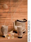 Чай и орхидея. Стоковое фото, фотограф Пётр Мусатов / Фотобанк Лори