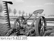 Конноприводная сенокосилка. Стоковое фото, фотограф Jakob Sergejew / Фотобанк Лори