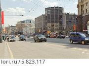 Купить «Центральный телеграф на Тверской улице», эксклюзивное фото № 5823117, снято 9 мая 2013 г. (c) Алёшина Оксана / Фотобанк Лори