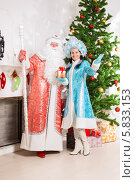 Купить «Дед Мороз и Снегурочка», фото № 5833153, снято 17 октября 2013 г. (c) Сергей Сухоруков / Фотобанк Лори