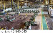 Купить «Линия на реконструкции, трубопрокатный завод», видеоролик № 5840045, снято 24 апреля 2014 г. (c) Кекяляйнен Андрей / Фотобанк Лори