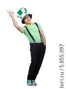 Купить «Забавный мужчина в шляпе на день Святого Патрика», фото № 5855997, снято 29 марта 2013 г. (c) Elnur / Фотобанк Лори