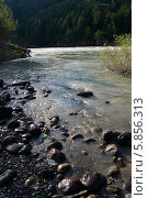 Река Катунь на Алтае, в Сибири. Стоковое фото, фотограф Alexander Zholobov / Фотобанк Лори